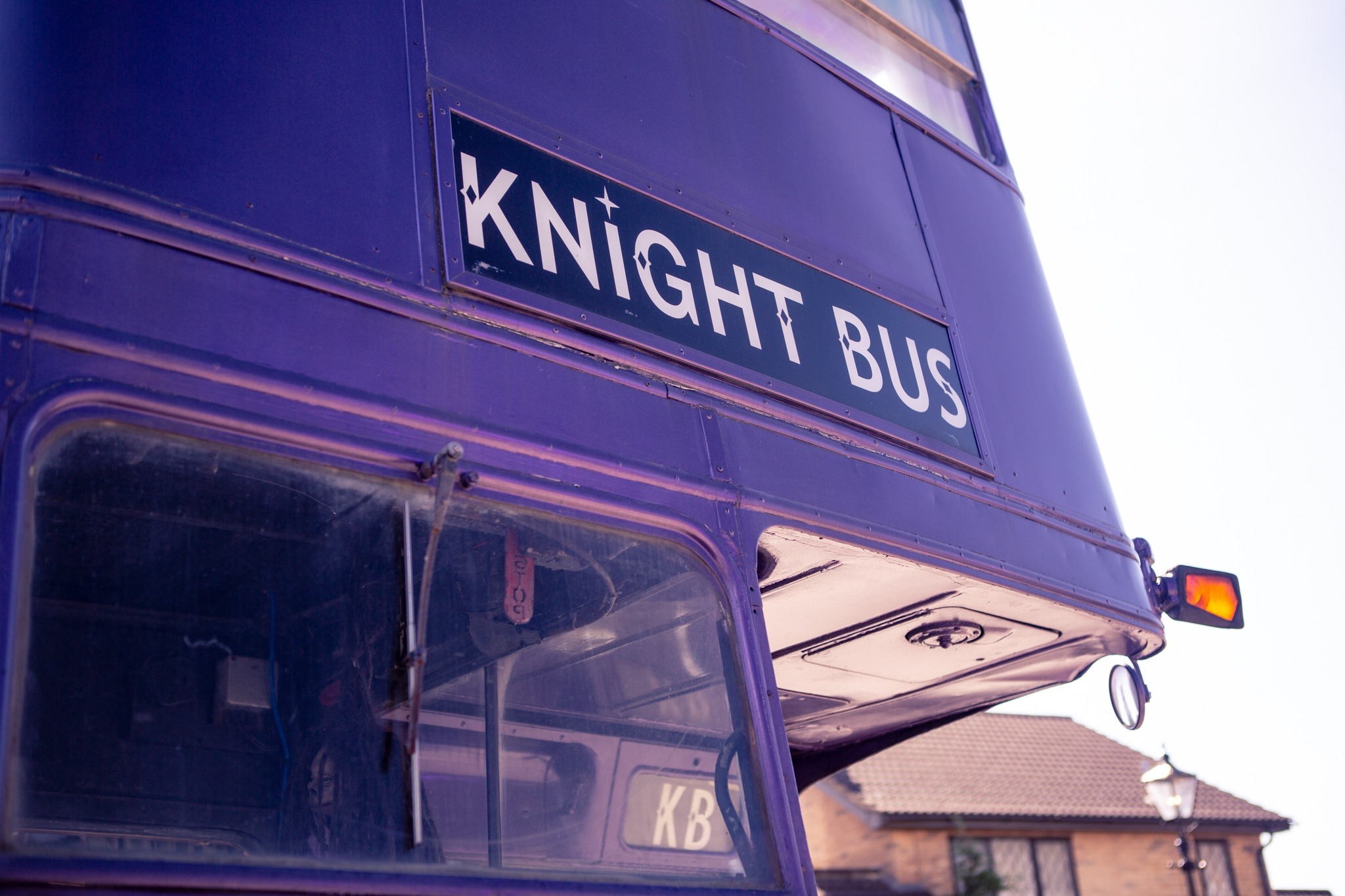 Close up of the Knight Bus