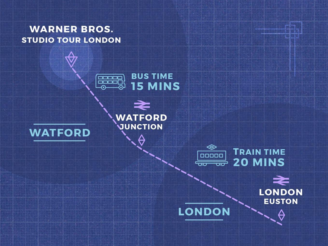 Map to Studio Tour