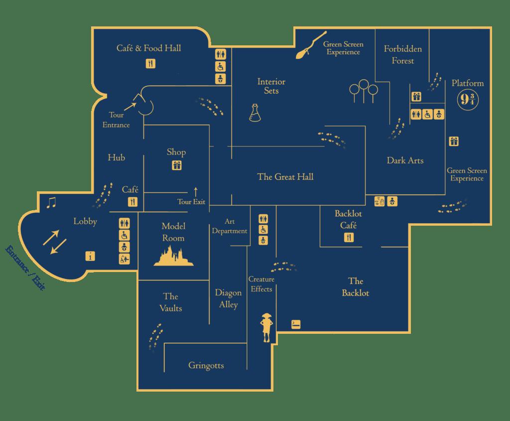 Warner Bros. Studio Tour Map