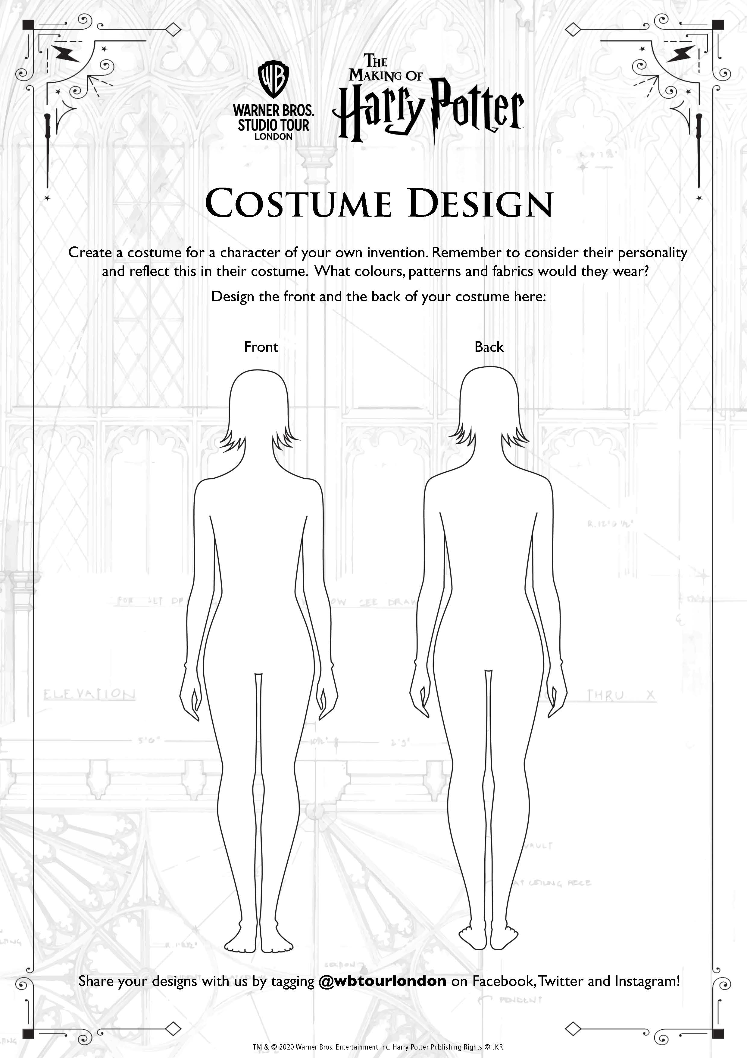 Costume Design female template
