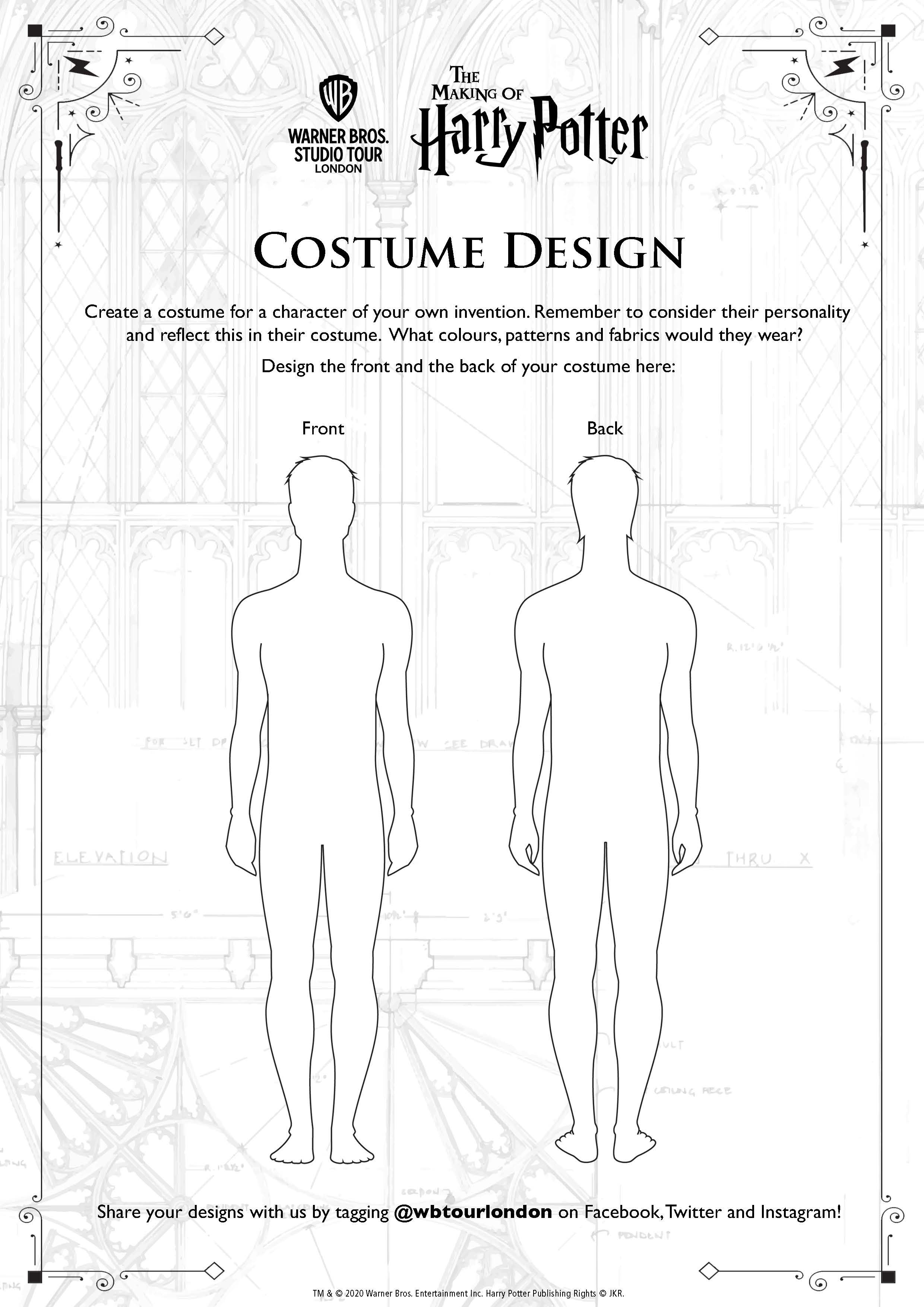 Costume Design male template