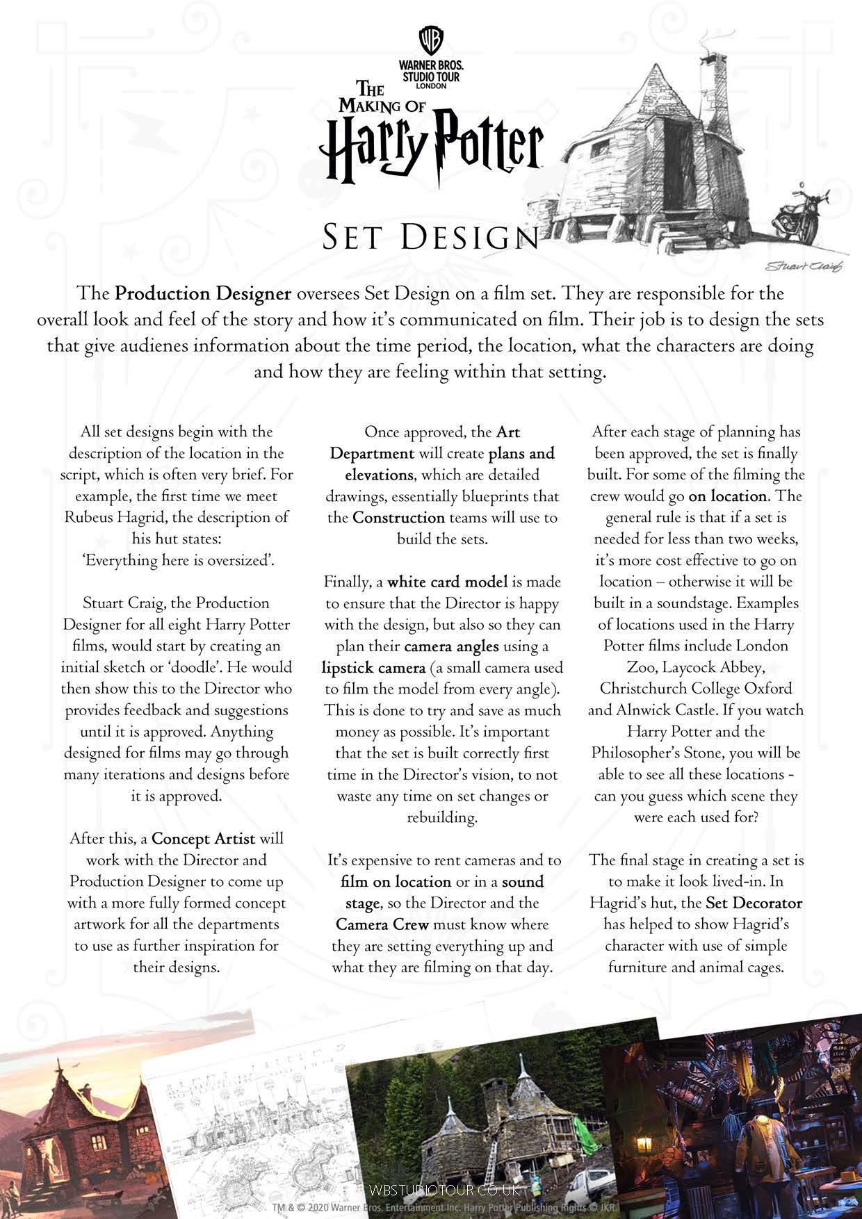 Set Design instructions page 1