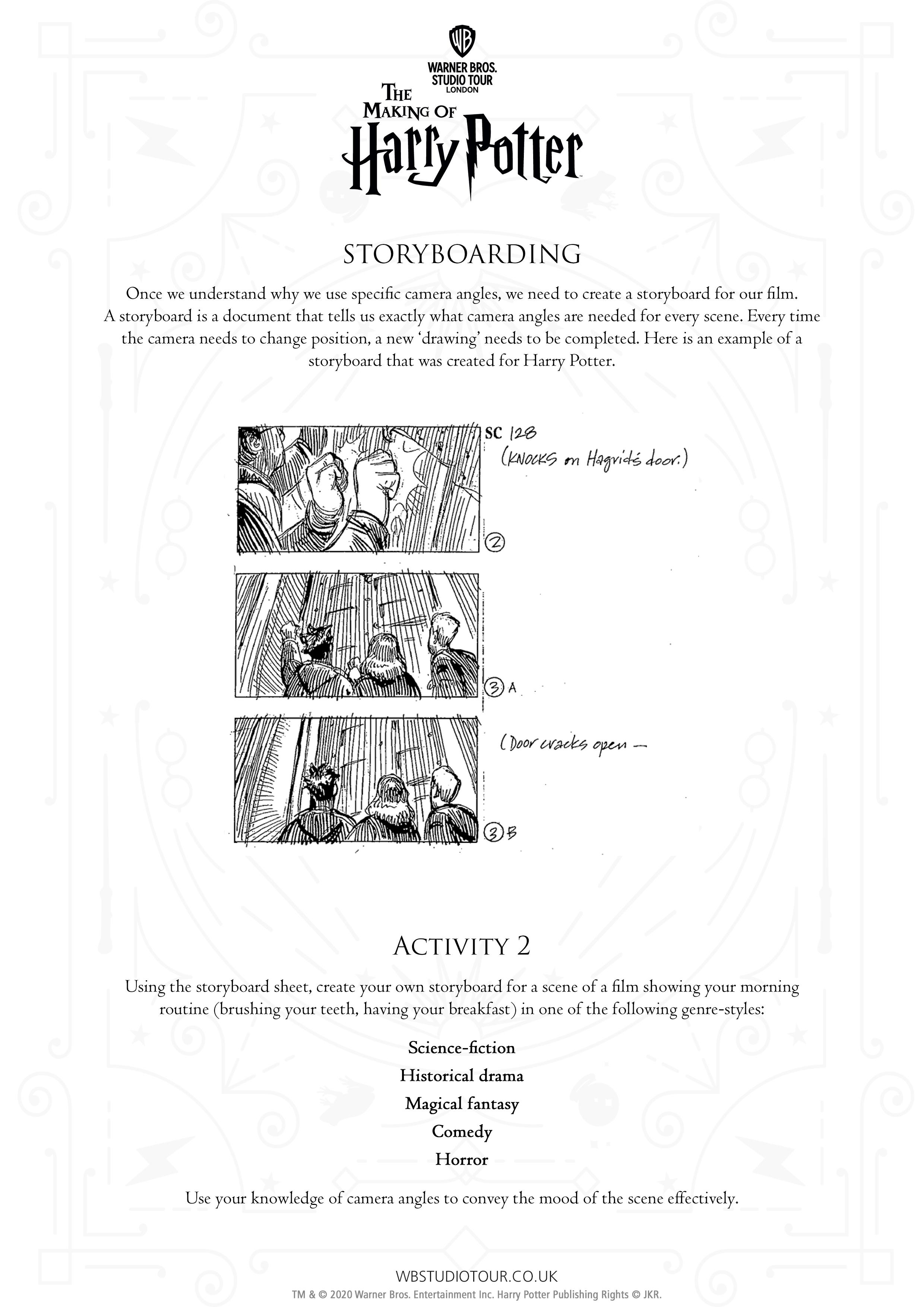 Camera Angles Activity Sheet thumbnail