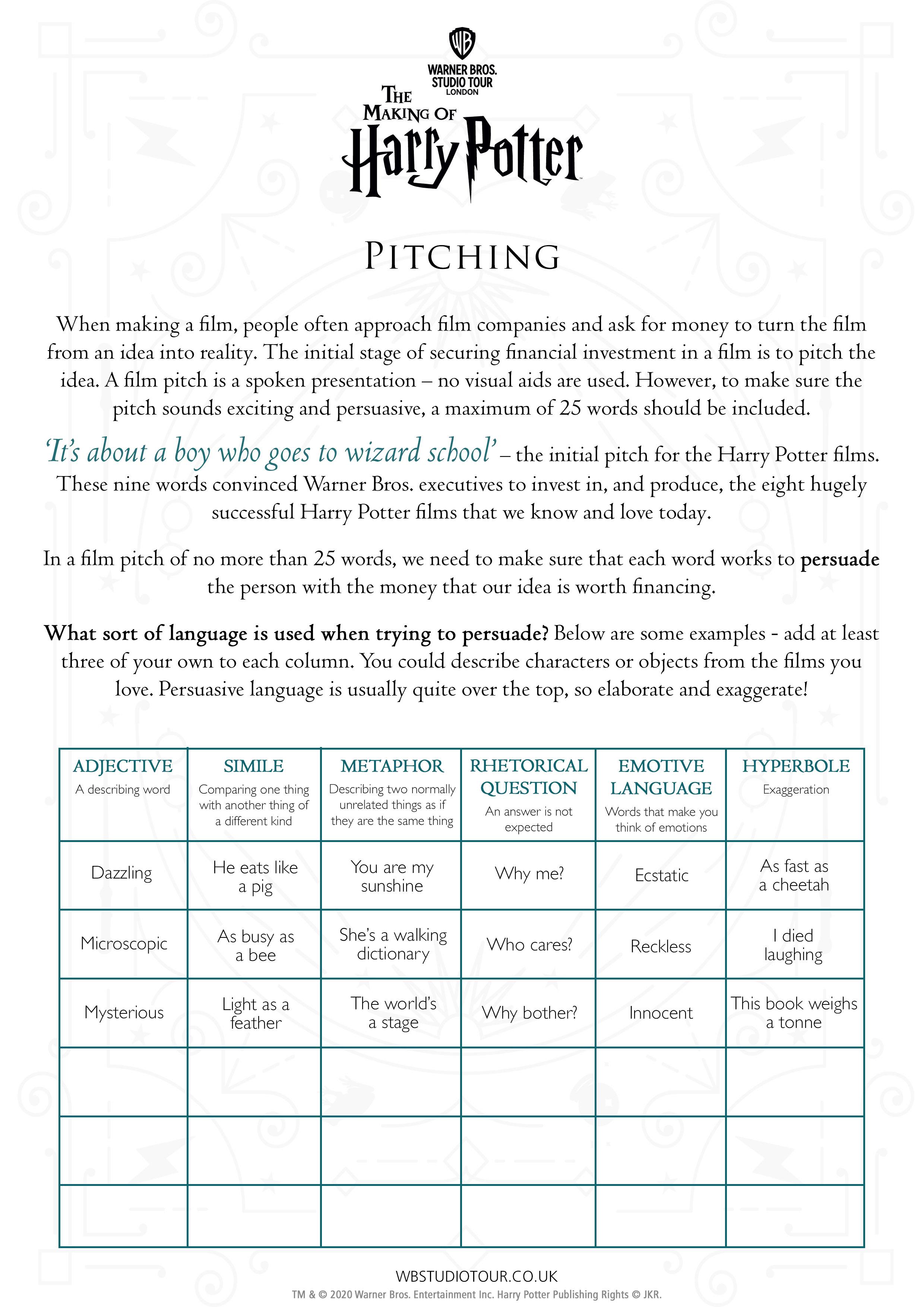Pitching Activity sheet thumbnail page 1
