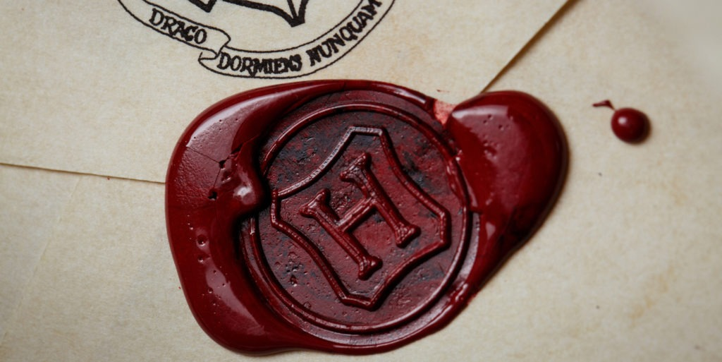 H stamped on Hogwarts Letter