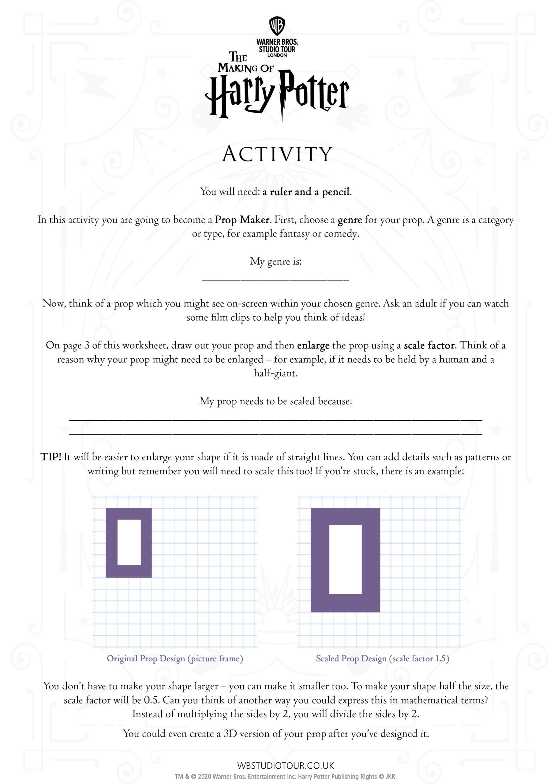 Movie Maths Activity Sheet thumbnail