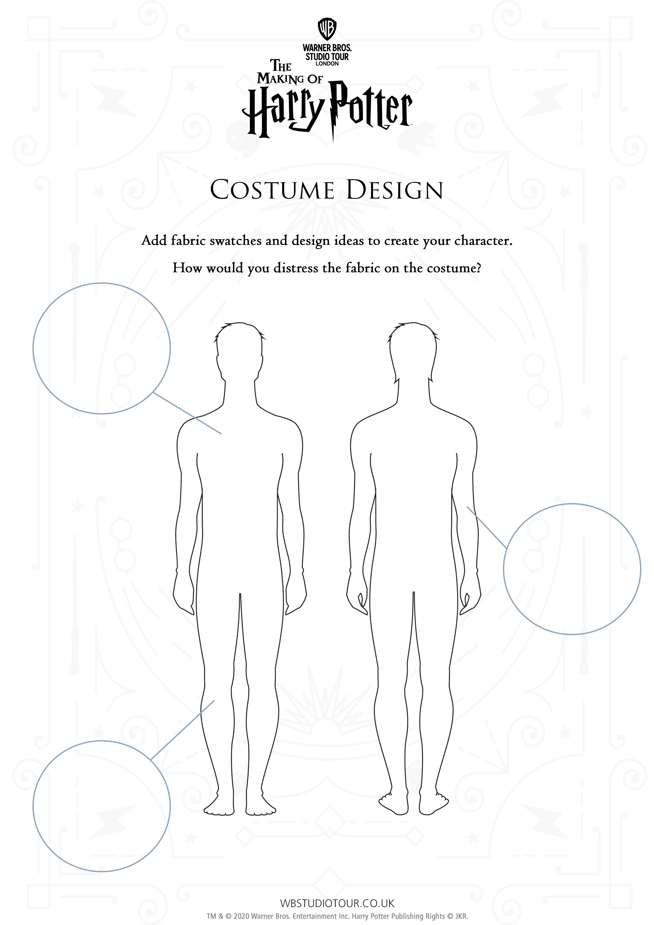 Costume Distressing Activity Sheet thumbnail
