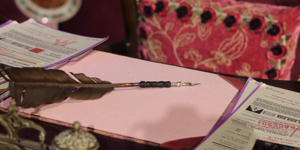 Professor Umbridge's desk and quill