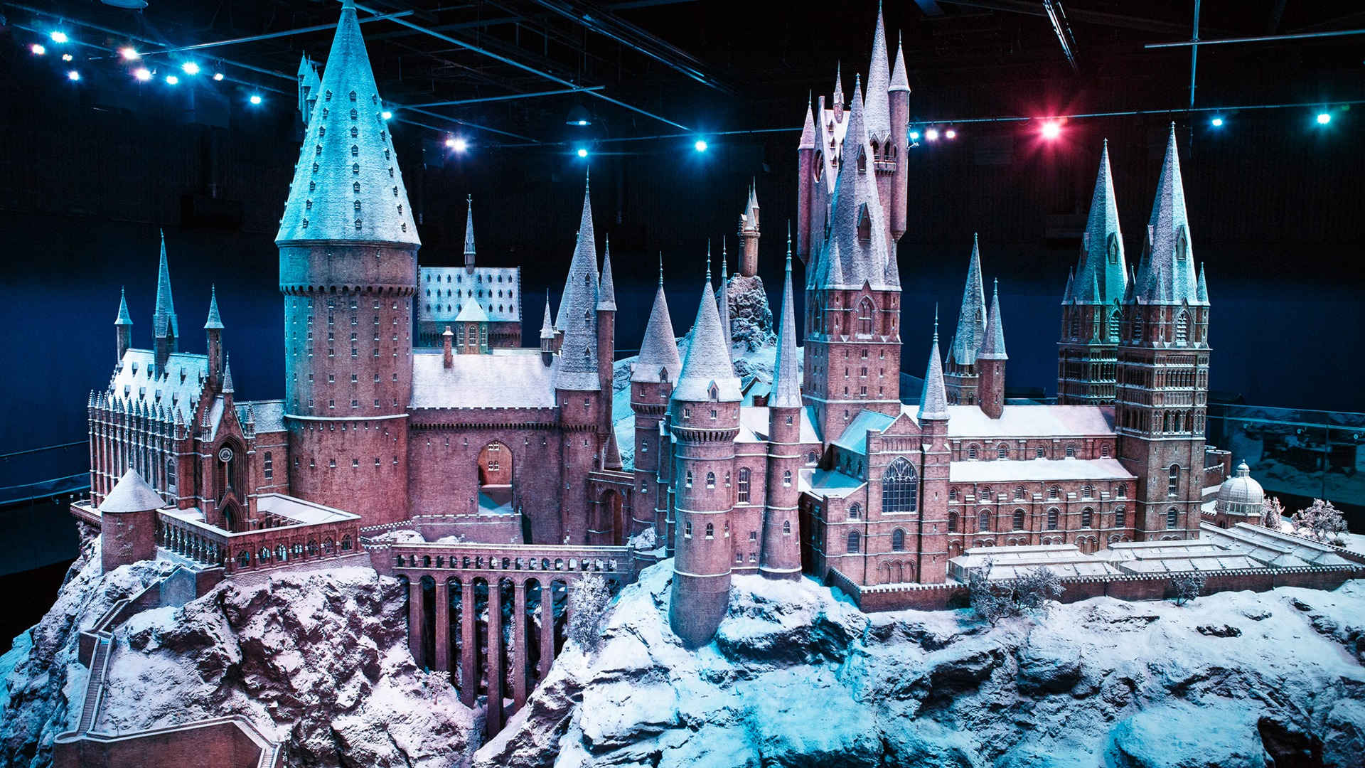 Video call background - Festive Hogwarts Castle